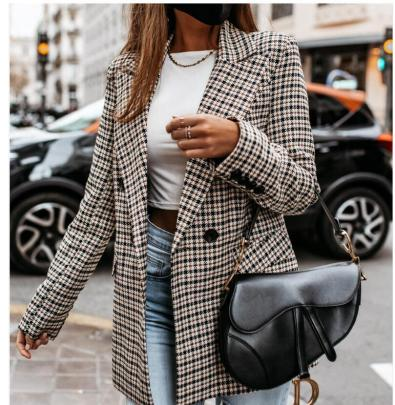 Ladies Plaid Small Suit Jacket Wholesales Nihaostyle Clothing NSYF70101