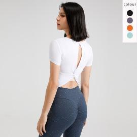 Women Short-sleeved Yoga Clothes Nihaostyles Clothing Wholesale NSFAN70478