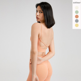 Women's Vest-style Fitness Shiny Sports Bra Nihaostyles Clothing Wholesale NSFAN70484