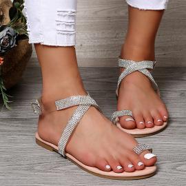 Summer New Rhinestones Cross Sandals Nihaostyle Clothing Wholesale NSJJX70506