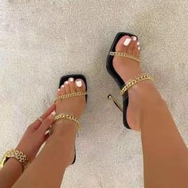 Summer New Square Toe Open Toe Women's Shoes Nihaostyle Clothing Wholesale NSJJX70509