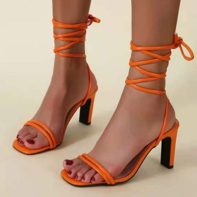 Large Size Women's High Heels Lace-up Sandals Nihaostyle Clothing Wholesale NSJJX70512