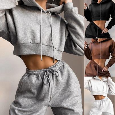 Plus Size Fleece Casual Hooded Sweater Suit Women Nihaostyles Clothing Wholesale NSXPF70516