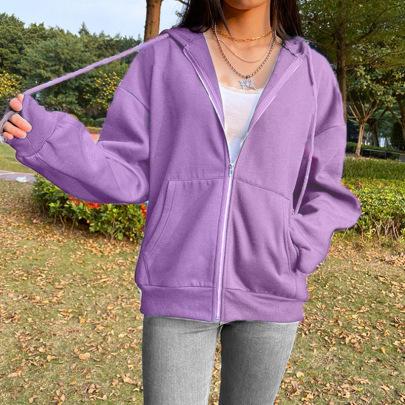 Hooded Fleece Cardigan Long-sleeved Jacket Nihaostyles Wholesale Clothing Vendor NSXPF70541