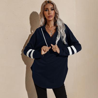 Mid-length Thin Long-sleeved Shirt Hooded Sweatshirt Nihaostyles Wholesale Clothing Vendor NSXPF70542