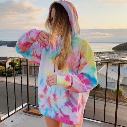 Tie-dye Printing Casual Hooded Sweatshirt Nihaostyles Wholesale Clothing Vendor NSXPF70554
