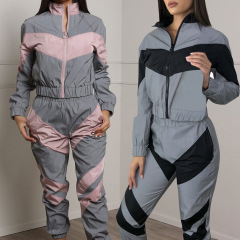 stitching jacket trousers set Nihaostyles wholesale clothing vendor NSXPF70563