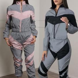 Conjunto de pantalones de chaqueta de costura Nihaostyles proveedor de ropa al por mayor NSXPF70563