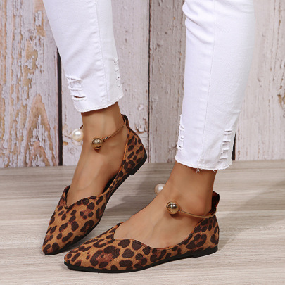 New Style Spring And Autumn Flat Bottom Leopard Shoes Nihaostyle Clothing Wholesale NSJJX70643