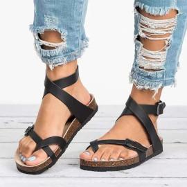 Summer New Flat Roman Sandals Nihaostyle Clothing Wholesale NSJJX70647