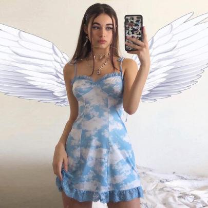 Nihaostyle Clothing Wholesale Lace-up Sleeveless Lace Dress NSHTL65722