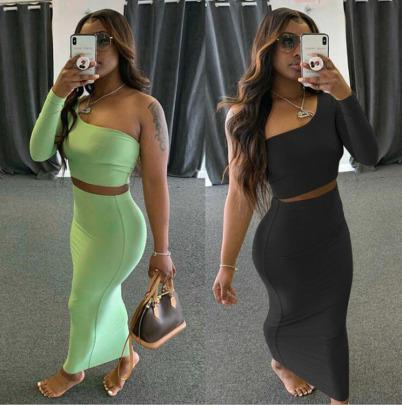 Nihaostyle Clothing Wholesale Spring New Fashion Long-sleeved Set NSFM65786