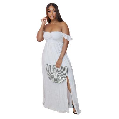 Nihaostyle Clothing Wholesale Chest Wrapped Long Sleeveless Summer Skirt NSALI65790