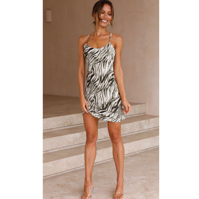 Nihaostyle Clothing Wholesale Summer New Sexy Halter Straps Slim Dress NSJIM66115