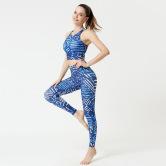 Pantalones De Yoga Impresos Ajustados De Cintura Alta Con Levantamiento De Cadera Para Mujer, Ropa De Nihaostyles Al Por Mayor NSXPF70697