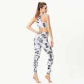 Nuevo Conjunto De Yoga Impreso De Dos Piezas De Fitness Nihaostyles Ropa Al Por Mayor NSXPF70714