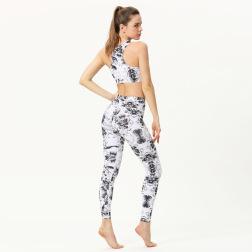 New Fitness Two-piece Printed Yoga Set Nihaostyles Clothing Wholesale NSXPF70714