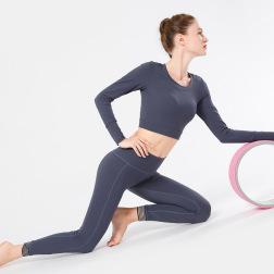New Waist Mesh Stitching High Waist Nine-point Sports Pants Nihaostyles Clothing Wholesale NSXPF70736