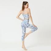 Conjunto De Deportes Recortados De Yoga Impresos Nihaostyles Ropa Al Por Mayor NSXPF70757