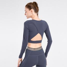 Women Loose Quick-drying Long-sleeved T-shirt Nihaostyles Clothing Wholesale NSXPF70769