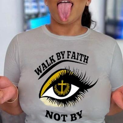 Large Size Eye Cross Print Short-sleeved T-shirt Nihaostyles Clothing Wholesale NSXPF70854