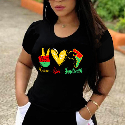 Heart-shaped Print Short-sleeved T-shirt Nihaostyles Clothing Wholesale NSXPF70864