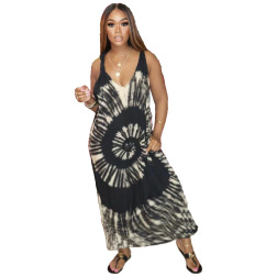 sexy printed suspender dress nihaostyles clothing wholesale NSJCF71076