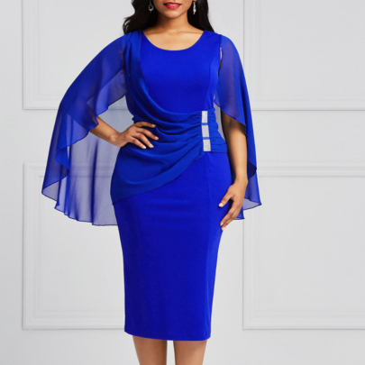 Wholesale Women's Clothing Nihaostyles Shawl Chiffon Bag Hip Dress NSXIA66149