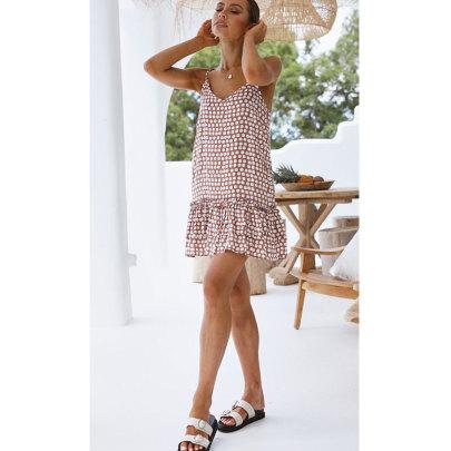 Nihaostyle Clothing Wholesale Summer New Sexy Sling Backless Polka-dot Dress NSJIM65960