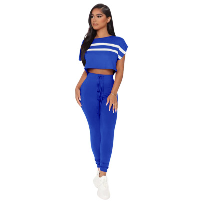 Nihaostyle Clothing Wholesale Casual Sexy Stitching Sports Set NSCQ65919