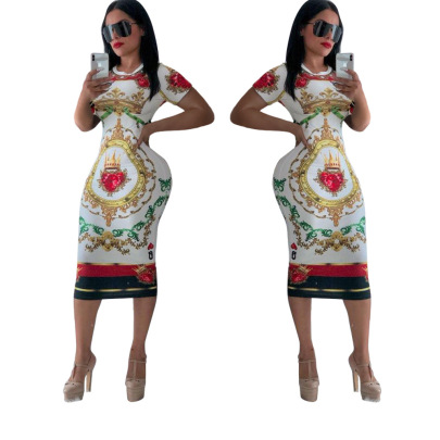 Nihaostyle Clothing Wholesale Spring And Summer Multicolor Printing Dress NSCQ65938