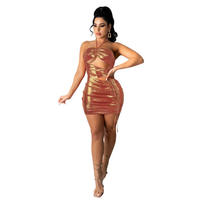 Nihaostyle Clothing Wholesale Fashion Sexy One-piece Dress NSCQ65939