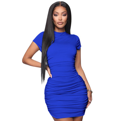 Nihaostyle Clothing Wholesale Spring Pleated Sexy Dress NSCQ65946