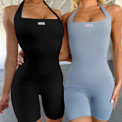 Wholesale Clothing Nihaostyles Label Vest Running Yoga Jumpsuit NSYLF65982