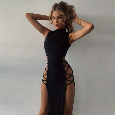 Nihaostyle Clothing Wholesale Sexy High Slit Lace Skirt NSYLF65987
