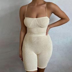Nihaostyle Clothing Wholesale Summer Sexy Sleeveless Set NSYLF66004