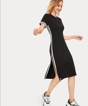 Nihaostyle Clothing Wholesale Short-sleeved Midi Dress NSOUY66125