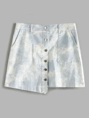Nihaostyle Clothing Wholesale Summer New Style Ink Tie-dye Plus Size Skirt NSOUY66207