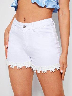 Nihaostyle Clothing Wholesale New White Lace Shorts NSOUY66246
