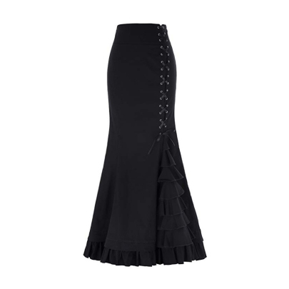 Wholesale Women's Clothing Nihaostyles Mermaid Tunic Lace-up Skirt NSXIA66232