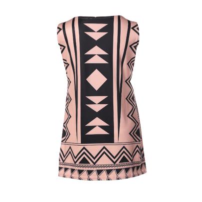 Wholesale Women's Clothing Nihaostyles Printed Sleeveless Casual Round Neck Dress NSXIA66271