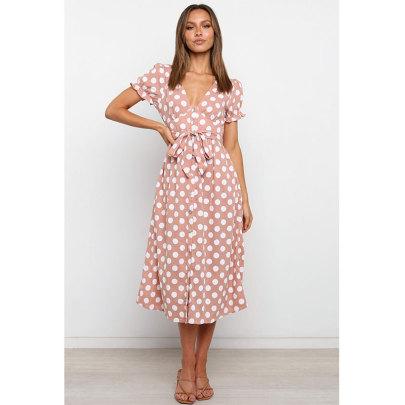 Nihaostyle Clothing Wholesale Summer New Style Ruffled Sleeves Dress NSJIM66286