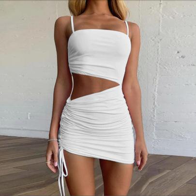 Wholesale Clothing Vendors Nihaostyles Hollow Drawstring Dress  NSZY66331