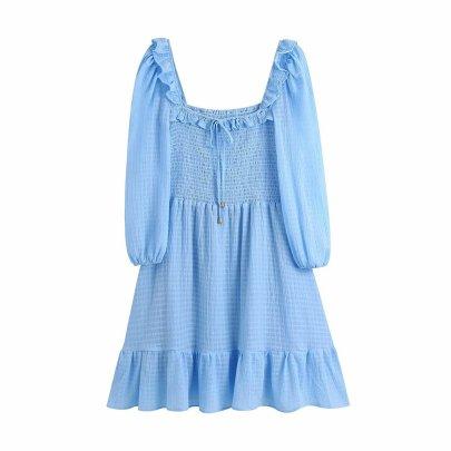 Wholesale Clothing Vendors Nihaostyles Summer Ruffle Elastic Dress NSAM66465