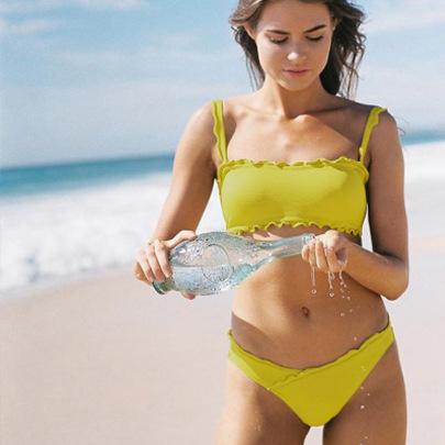 Nihaostyle Clothing Wholesale Fresh Split Swimsuit NSLUT66517