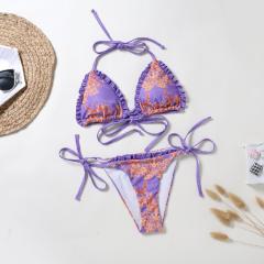 nihaostyle ropa al por mayor dividido impreso sexy bikini fruncido NSLUT66527