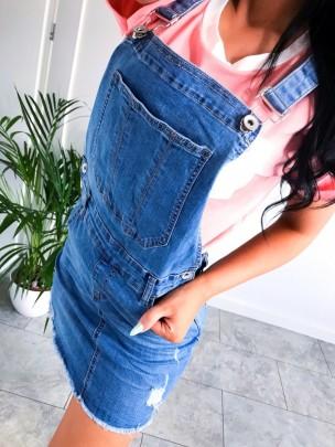 Nihaostyle Clothing Wholesale New Denim Suspender Skirt NSOUY66505