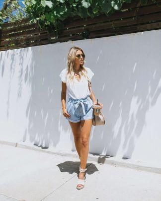 Nihaostyle Clothing Wholesale Summer New Women's Belt Lace Denim Shorts NSOUY66502