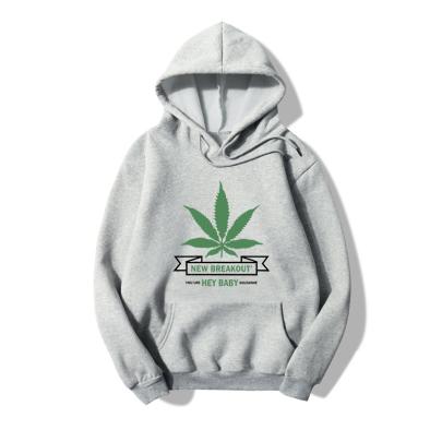 Wholesale Clothing Nihaostyles Hooded Five-leaf Clover Print Long-sleeved Fleece Sweatshirt NSYAY67090