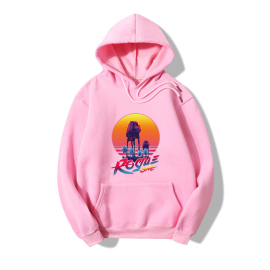 Wholesale Clothing Vendors Nihaostyles Hooded Sunset Letters Fashion Printing Long-sleeved Fleece Sweater NSYAY67089